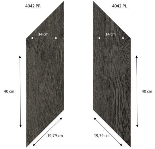 4042 PR-PL Black Fine Oak PRO размеры